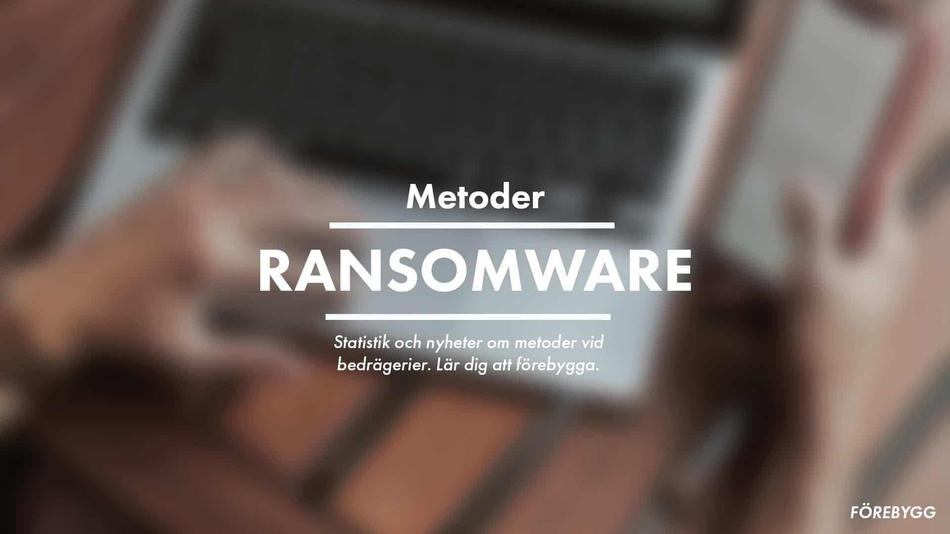 skydda dig mot ransomware